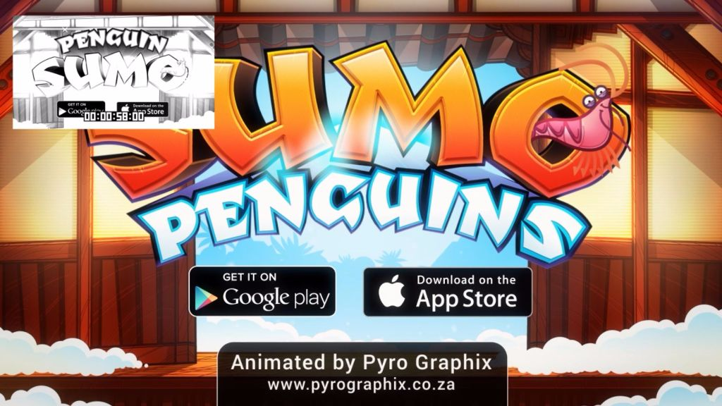 Sumo Penguin Mobile Game Trailer Animation 2D 8