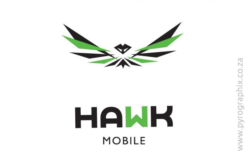 Hawk mobile Logo Printers Graphic Design animation