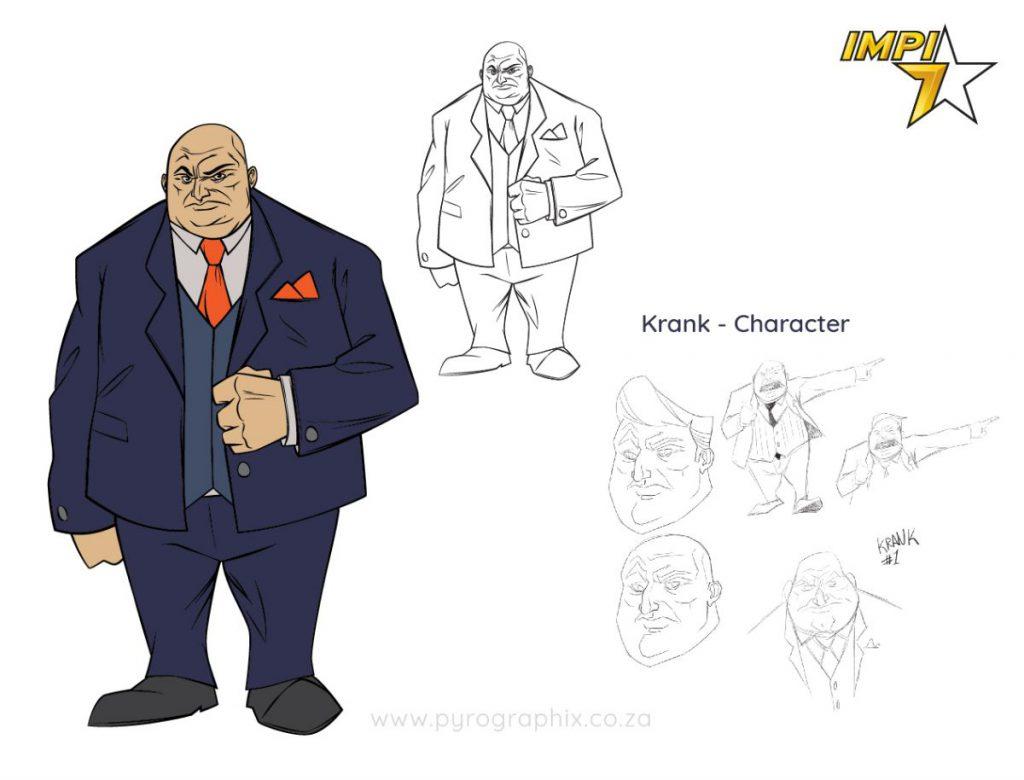 villain character development design for 2d animation