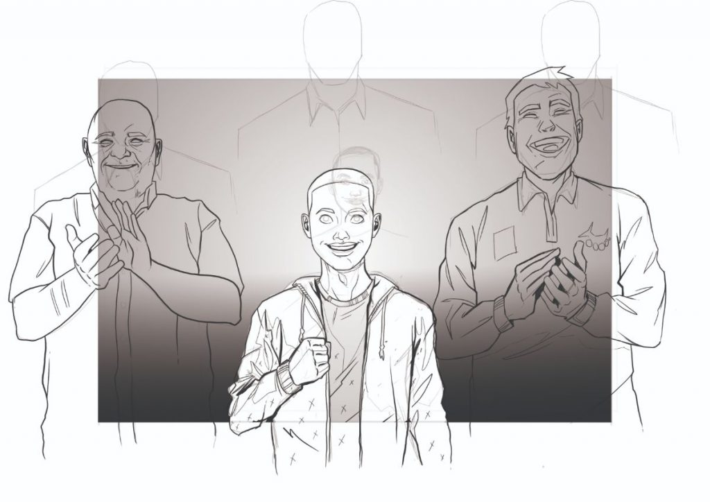 Rough Sketch of Scene for animation
