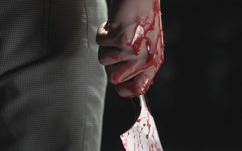 scary bloody knife story video